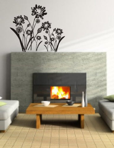 Spring Meadow Wall Decal Mural Sticker Flowers Flower - ezwalldecals  - vinyl decal - vinyl sticker - decals - stickers - wall decal - jdm decal - vinyl stickers - vinyl decals - 1
