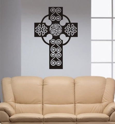 Beautiful Cross Decal Sticker Wall Religion God Catholic Christian - ezwalldecals  - vinyl decal - vinyl sticker - decals - stickers - wall decal - jdm decal - vinyl stickers - vinyl decals - 1