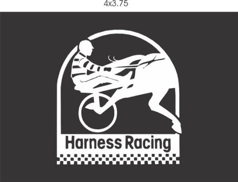 Harness Racing Decal Sticker Window Car Truck Van Suv - ezwalldecals  - vinyl decal - vinyl sticker - decals - stickers - wall decal - jdm decal - vinyl stickers - vinyl decals - 1