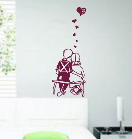 Couple in Love Decal Sticker Wall Art Bench Park Married Graphic - ezwalldecals  - vinyl decal - vinyl sticker - decals - stickers - wall decal - jdm decal - vinyl stickers - vinyl decals - 1