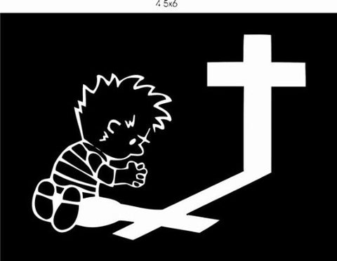 Calvin Praying Decal Sticker Window Car Truck Van Suv - ezwalldecals vinyl decal - vinyl sticker - decals - stickers - wall decal - jdm decal - vinyl stickers - vinyl decals - 1
