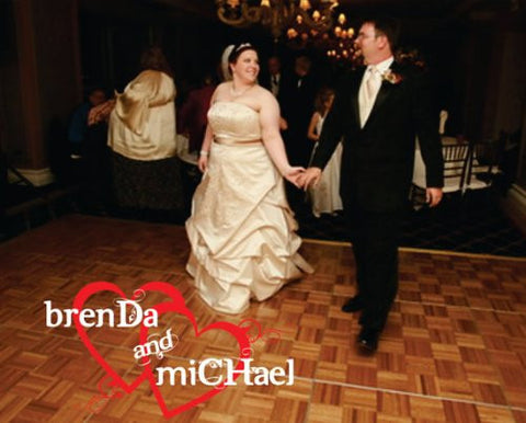 Custom Wedding Reception Dance Floor Decals Sticker - ezwalldecals  - vinyl decal - vinyl sticker - decals - stickers - wall decal - jdm decal - vinyl stickers - vinyl decals - 1