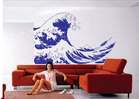 Huge Kanagawa Wave Wall Decal Hokusai Wall Decal Sticker Art Graphic - ezwalldecals  - vinyl decal - vinyl sticker - decals - stickers - wall decal - jdm decal - vinyl stickers - vinyl decals - 1