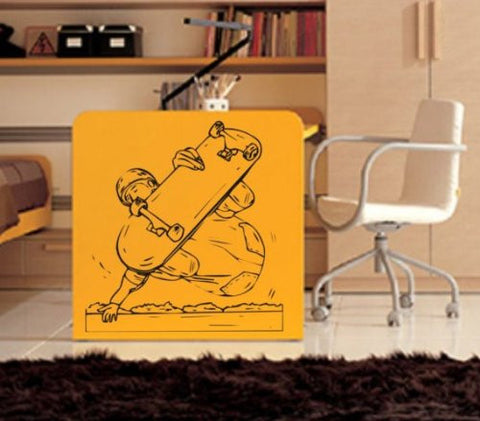 Skateboarder Handgrab Decal Wall Sticker Skateboard Skater Skate Kid Boy Room - ezwalldecals  - vinyl decal - vinyl sticker - decals - stickers - wall decal - jdm decal - vinyl stickers - vinyl decals - 1