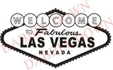 BIG Welcome to Las Vegas Sign Decal Sticker Wall Mural Gambling Poker - ezwalldecals  - vinyl decal - vinyl sticker - decals - stickers - wall decal - jdm decal - vinyl stickers - vinyl decals - 1