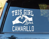 This Girl Loves Camarillo Decal Sticker Car Window Truck Laptop - ezwalldecals vinyl decal - vinyl sticker - decals - stickers - wall decal - jdm decal - vinyl stickers - vinyl decals - 1