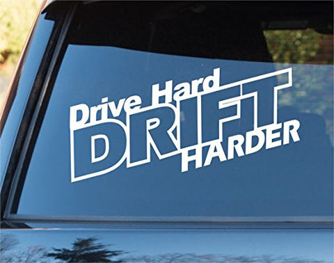 Drive Hard Drift Harder Car Window Windshield Lettering Decal Sticker Decals ... - ezwalldecals vinyl decal - vinyl sticker - decals - stickers - wall decal - jdm decal - vinyl stickers - vinyl decals - 1