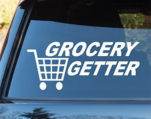 Grocery Getter Car Window Windshield Lettering Decal Sticker Decals Stickers ... - ezwalldecals vinyl decal - vinyl sticker - decals - stickers - wall decal - jdm decal - vinyl stickers - vinyl decals - 1