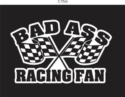 Bad Ass Racing Fan Decal Sticker Window Car Truck Van Suv Flags - ezwalldecals  - vinyl decal - vinyl sticker - decals - stickers - wall decal - jdm decal - vinyl stickers - vinyl decals - 1