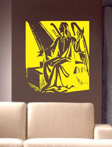 Angel in the Light Decal Sticker Wall Beautiful Art Design Nice - ezwalldecals  - vinyl decal - vinyl sticker - decals - stickers - wall decal - jdm decal - vinyl stickers - vinyl decals - 1