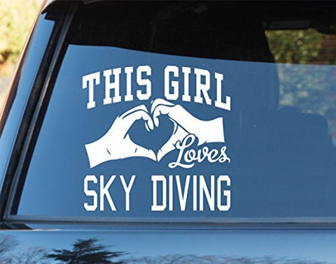 This Girl Loves Sky Diving Decal Sticker Car Window Truck Laptop - ezwalldecals vinyl decal - vinyl sticker - decals - stickers - wall decal - jdm decal - vinyl stickers - vinyl decals - 1