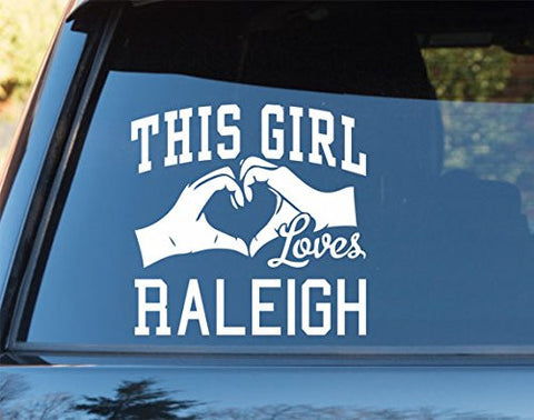 This Girl Loves Raleigh Decal Sticker Car Window Truck Laptop - ezwalldecals vinyl decal - vinyl sticker - decals - stickers - wall decal - jdm decal - vinyl stickers - vinyl decals - 1