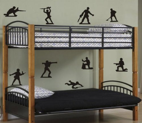 Army Men Decal Set Sticker Toy Toys Green Plastic Kids Kid Boy Teen War - ezwalldecals  - vinyl decal - vinyl sticker - decals - stickers - wall decal - jdm decal - vinyl stickers - vinyl decals - 1