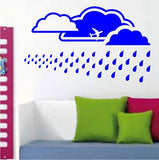 Extra Large Sky Background with Clouds and Rain Vinyl Wall Decal Sticker - ezwalldecals  - vinyl decal - vinyl sticker - decals - stickers - wall decal - jdm decal - vinyl stickers - vinyl decals - 1