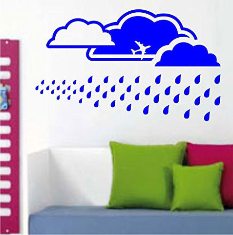 Sky Background with Clouds and Rain Vinyl Wall Decal Sticker Art Graphic Wall - ezwalldecals  - vinyl decal - vinyl sticker - decals - stickers - wall decal - jdm decal - vinyl stickers - vinyl decals - 1