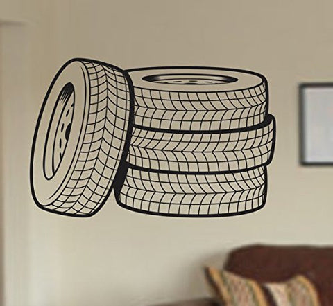 Car Tire Dealer Vinyl Wall Decal Sticker - ezwalldecals  - vinyl decal - vinyl sticker - decals - stickers - wall decal - jdm decal - vinyl stickers - vinyl decals - 1
