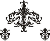 Damask Symbols Sticker Wall Decal Modern Decoration Classy Art - ezwalldecals  - vinyl decal - vinyl sticker - decals - stickers - wall decal - jdm decal - vinyl stickers - vinyl decals - 1