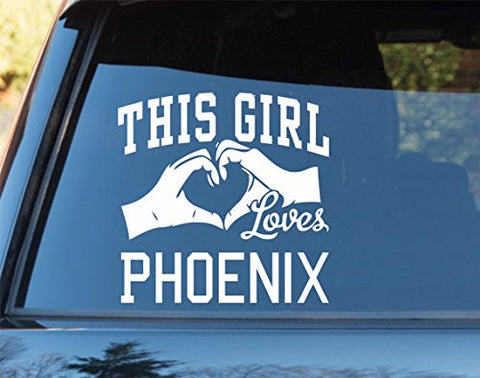 This Girl Loves Phoenix Decal Sticker Car Window Truck Laptop - ezwalldecals vinyl decal - vinyl sticker - decals - stickers - wall decal - jdm decal - vinyl stickers - vinyl decals - 1