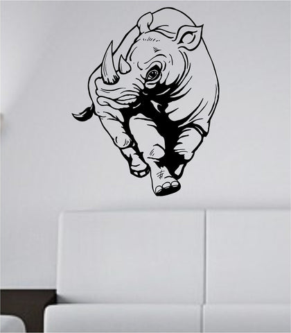 Rhino Sticker Wall Decal Animal Bird Art Graphic Rhinos - ezwalldecals  - vinyl decal - vinyl sticker - decals - stickers - wall decal - jdm decal - vinyl stickers - vinyl decals - 1