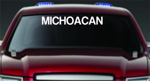 MICHOACAN Large Version Car Truck Window Windshield Letteri... - ezwalldecals vinyl decal - vinyl sticker - decals - stickers - wall decal - jdm decal - vinyl stickers - vinyl decals - 1