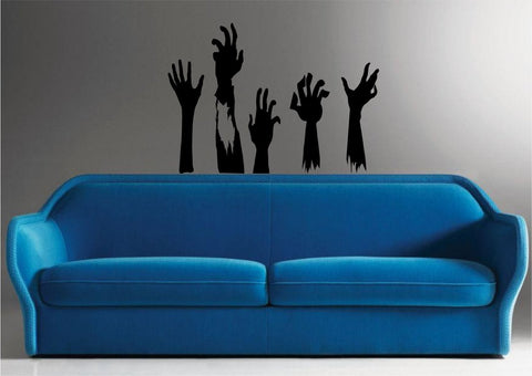 Zombie Hands Set Wall Decal Sticker Wall Vinyl Mural The Walking Dead - ezwalldecals  - vinyl decal - vinyl sticker - decals - stickers - wall decal - jdm decal - vinyl stickers - vinyl decals - 1
