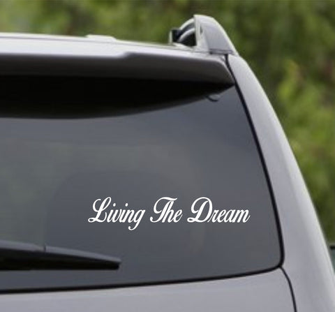 Living the Dream Small Version 101 Car Truck Window Windshield Lettering Deca... - ezwalldecals vinyl decal - vinyl sticker - decals - stickers - wall decal - jdm decal - vinyl stickers - vinyl decals - 1
