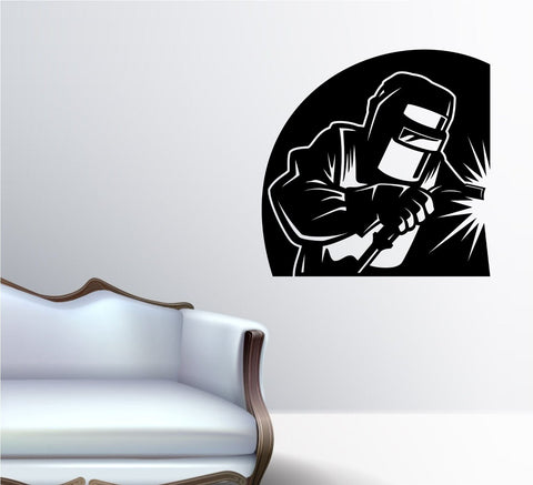 Welder Version 101 Man Welding Vinyl Wall Decal Sticker Decals Stickers - ezwalldecals  - vinyl decal - vinyl sticker - decals - stickers - wall decal - jdm decal - vinyl stickers - vinyl decals - 1
