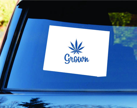 Colorado Grown State Shape Weed Leaf Car Truck Window Decal Sticker Laptop - ezwalldecals vinyl decal - vinyl sticker - decals - stickers - wall decal - jdm decal - vinyl stickers - vinyl decals - 1