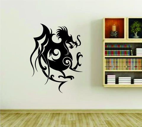 Tribal Dragon Design Asian Vinyl Wall Decal Sticker - ezwalldecals  - vinyl decal - vinyl sticker - decals - stickers - wall decal - jdm decal - vinyl stickers - vinyl decals - 1