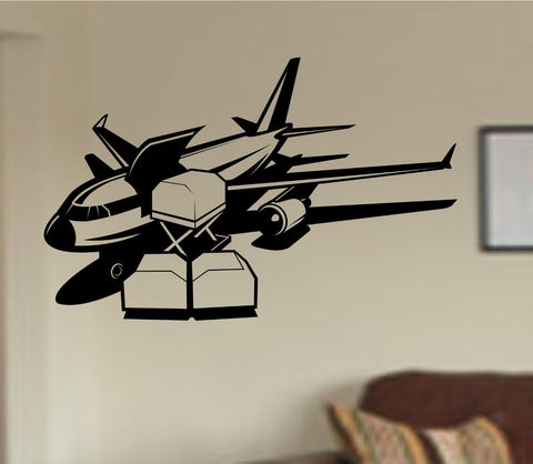 Airplane Version 103 Vinyl Wall Decal Sticker Car Window Truck Decals Stickers - ezwalldecals  - vinyl decal - vinyl sticker - decals - stickers - wall decal - jdm decal - vinyl stickers - vinyl decals - 1