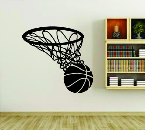 Basketball Rim Basket and Ball Version 101 Sports Vinyl Wall Decal Sticker - ezwalldecals  - vinyl decal - vinyl sticker - decals - stickers - wall decal - jdm decal - vinyl stickers - vinyl decals - 1