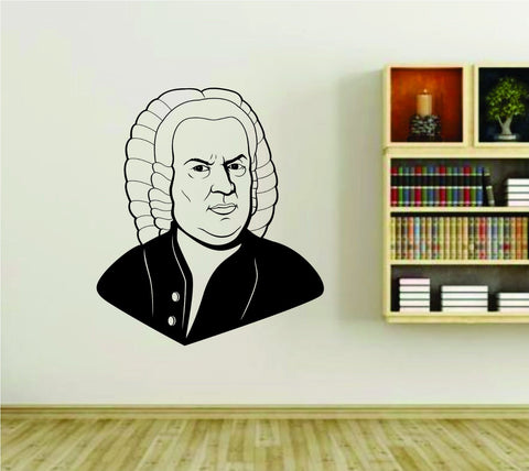 Bach Musical Composer Famous Musician Classical Music Vinyl Wall Decal Sticker - ezwalldecals  - vinyl decal - vinyl sticker - decals - stickers - wall decal - jdm decal - vinyl stickers - vinyl decals - 1