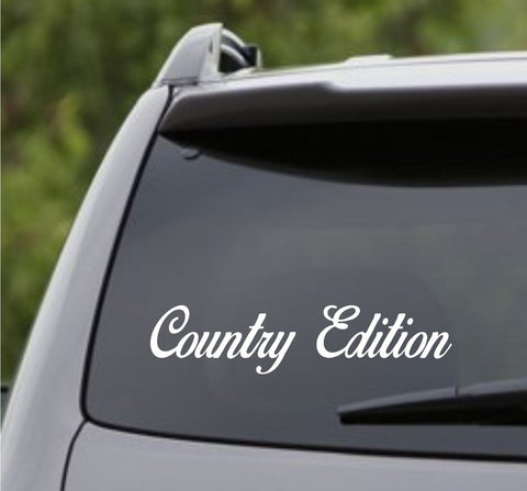 Small Version Country Edition Car Truck Window Windshield Decal Sticker - ezwalldecals vinyl decal - vinyl sticker - decals - stickers - wall decal - jdm decal - vinyl stickers - vinyl decals - 1