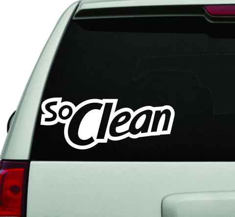 So Clean JDM Car Truck Window Windshield Lettering Decal Sticker - ezwalldecals vinyl decal - vinyl sticker - decals - stickers - wall decal - jdm decal - vinyl stickers - vinyl decals - 1