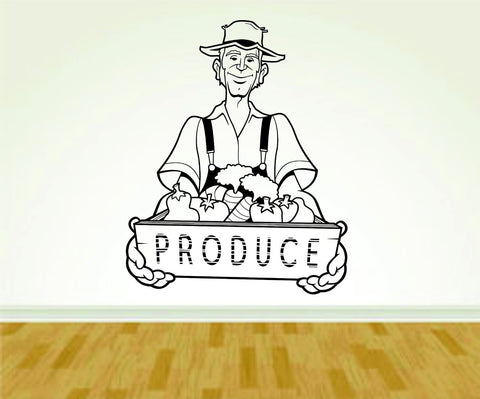 Produce Farmer Farming Farm Version 104 Decal Sticker Wall Boy Girl - ezwalldecals  - vinyl decal - vinyl sticker - decals - stickers - wall decal - jdm decal - vinyl stickers - vinyl decals - 1