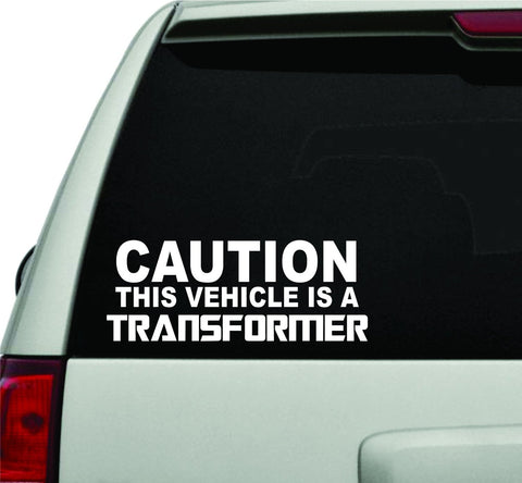 Caution This Vehicle is a Transformer JDM Car Truck Window Decal Sticker - ezwalldecals vinyl decal - vinyl sticker - decals - stickers - wall decal - jdm decal - vinyl stickers - vinyl decals - 1
