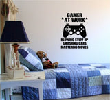 Gamer At Work Old School Vintage Video Game Decal Sticker Wall Boy Girl Teen - ezwalldecals  - vinyl decal - vinyl sticker - decals - stickers - wall decal - jdm decal - vinyl stickers - vinyl decals - 1
