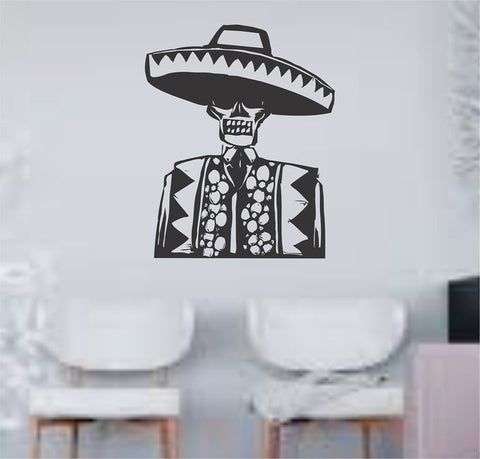 Day of the Dead Man Wall Vinyl Decal Sticker - ezwalldecals vinyl decal - vinyl sticker - decals - stickers - wall decal - jdm decal - vinyl stickers - vinyl decals - 1