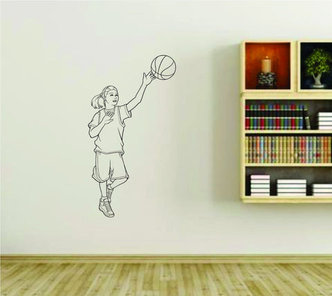 Girl Basketball Player Version 104 Sports Vinyl Wall Decal Sticker - ezwalldecals  - vinyl decal - vinyl sticker - decals - stickers - wall decal - jdm decal - vinyl stickers - vinyl decals - 1