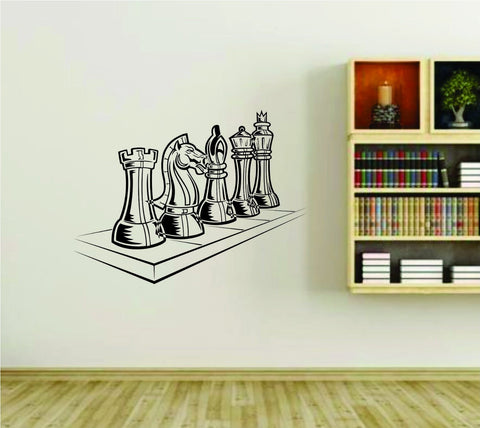 Chess Pieces Checkmate Vinyl Wall Decal Sticker - ezwalldecals  - vinyl decal - vinyl sticker - decals - stickers - wall decal - jdm decal - vinyl stickers - vinyl decals - 1