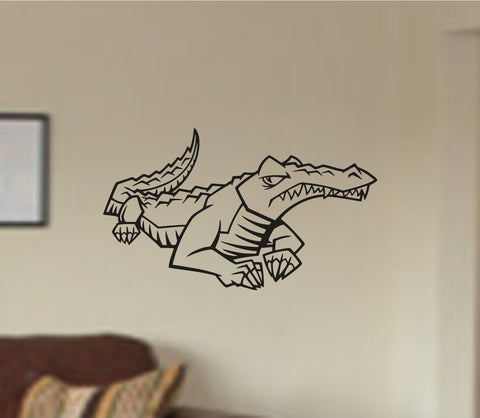 Aligator Gator Version 105 Dinosaur Vinyl Wall Decal Sticker Zoo Modern Wall - ezwalldecals  - vinyl decal - vinyl sticker - decals - stickers - wall decal - jdm decal - vinyl stickers - vinyl decals - 1