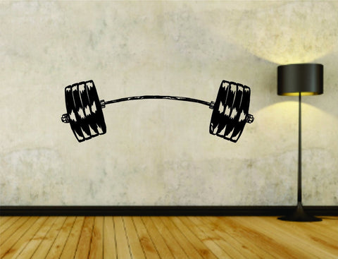 Weight Bar Powerlifter Fitness Gym Weightlifting Bodybuilder Bodybuilding - ezwalldecals  - vinyl decal - vinyl sticker - decals - stickers - wall decal - jdm decal - vinyl stickers - vinyl decals - 1