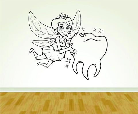 Tooth Fairy Dentist Dentistry Smile Sign Version 109 Decal Sticker Wall - ezwalldecals  - vinyl decal - vinyl sticker - decals - stickers - wall decal - jdm decal - vinyl stickers - vinyl decals - 1