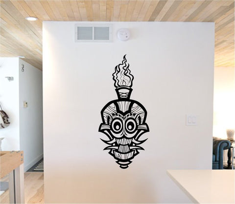 Tiki Skull Version 103 Decal Sticker Wall Mural Art Graphic - ezwalldecals  - vinyl decal - vinyl sticker - decals - stickers - wall decal - jdm decal - vinyl stickers - vinyl decals - 1