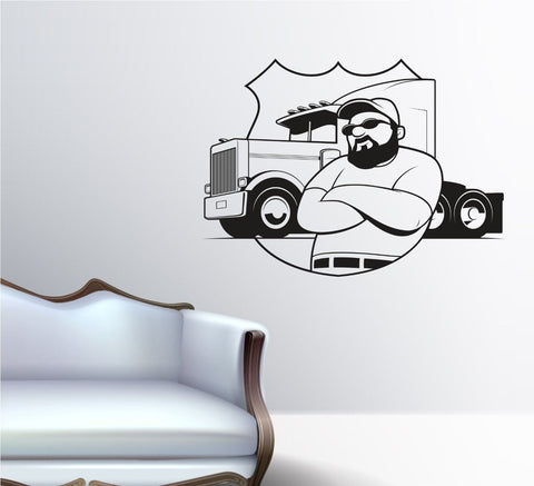 Trucker Trucking Truck Driver Vinyl Wall Decal Sticker Decals Stickers - ezwalldecals  - vinyl decal - vinyl sticker - decals - stickers - wall decal - jdm decal - vinyl stickers - vinyl decals - 1
