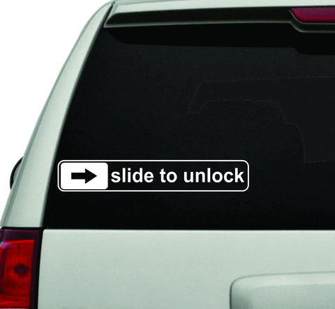 Slide To Unlock JDM Car Truck Window Windshield Lettering Decal Sticker - ezwalldecals vinyl decal - vinyl sticker - decals - stickers - wall decal - jdm decal - vinyl stickers - vinyl decals - 1