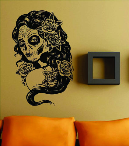 Extra Large Day of the Dead Girl Version 101 Wall Vinyl Decal Sticker - ezwalldecals vinyl decal - vinyl sticker - decals - stickers - wall decal - jdm decal - vinyl stickers - vinyl decals - 1