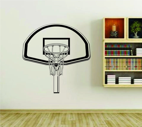Basketball Rim and Basket Backboard Version 101 Sports Vinyl Wall Decal Sticker - ezwalldecals  - vinyl decal - vinyl sticker - decals - stickers - wall decal - jdm decal - vinyl stickers - vinyl decals - 1