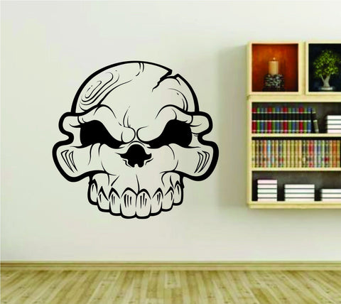 Skull Design Vinyl Wall Decal Sticker Car Window Truck Decals Stickers 27x28 - ezwalldecals  - vinyl decal - vinyl sticker - decals - stickers - wall decal - jdm decal - vinyl stickers - vinyl decals - 1