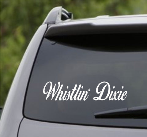 Small Version Whistlin Dixie Car Truck Window Windshield Decal Sticker - ezwalldecals vinyl decal - vinyl sticker - decals - stickers - wall decal - jdm decal - vinyl stickers - vinyl decals - 1